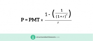 The formula for calculating present value